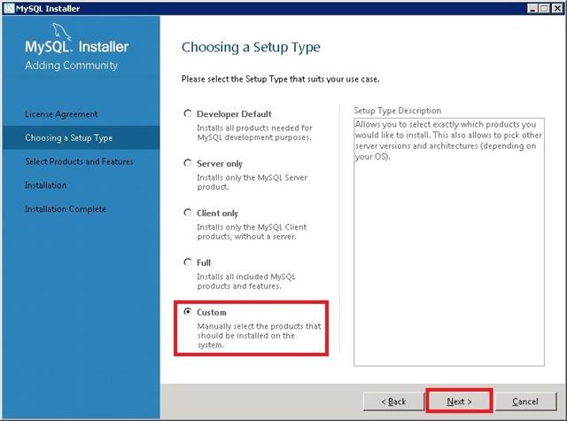 Windows Server 安装 MySQL,Custom 自定义安装