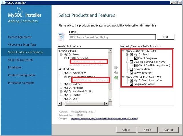 Windows Server 安装 MySQL,选择MySQL Server 和 Workbench 产品