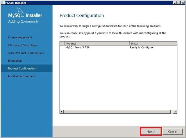 Windows Server 安装 MySQL,Ready to Config 准备配置