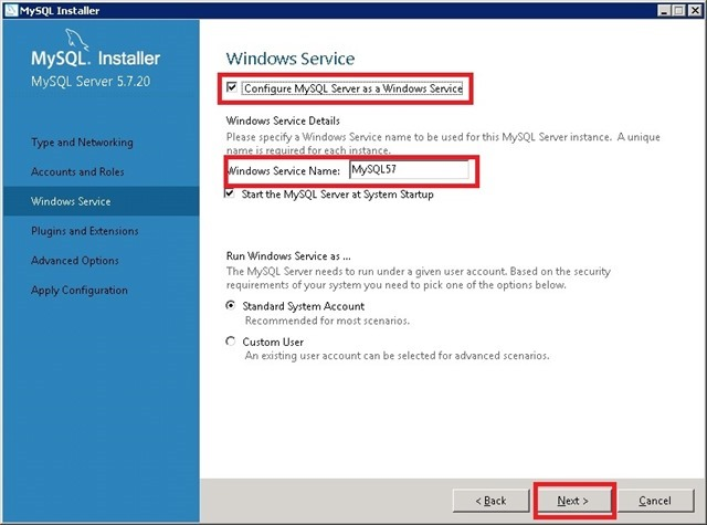 Windows Server 安装 MySQL,配置 MySQL Windows Service