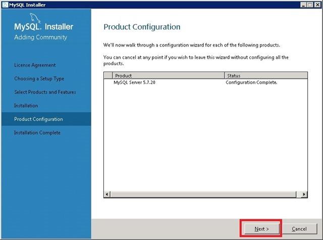 Windows Server 安装 MySQL,Configuration Complete 配置完成