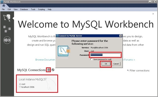 Workbench 连接 MySQL 数据库
