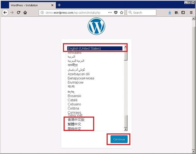 WordPress 首次初始化安装