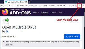 Firefox火狐浏览器安装Open Multiple URLs插件